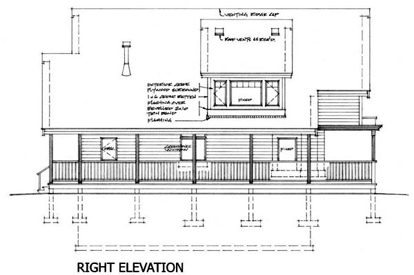 Cabin, Narrow Lot House Plan 76011 with 2 Beds, 2 Baths Picture 2
