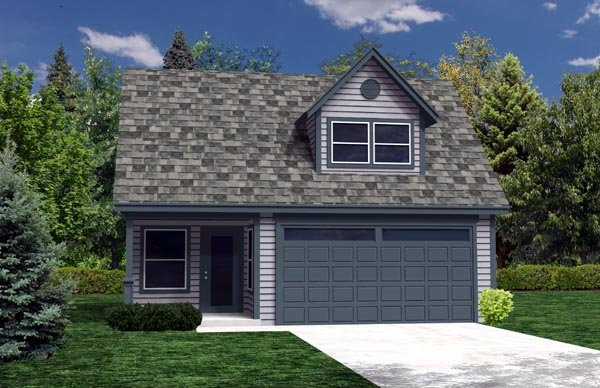 2 Car Garage Plan 76013 Elevation