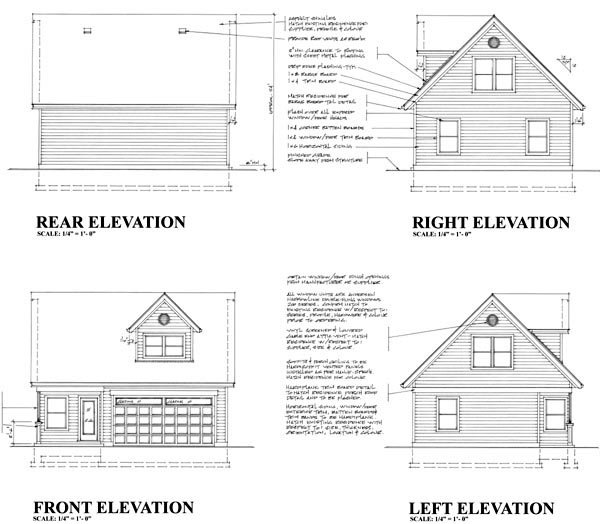 Plan And Elevation Of Car : Garage plan at familyhomeplans