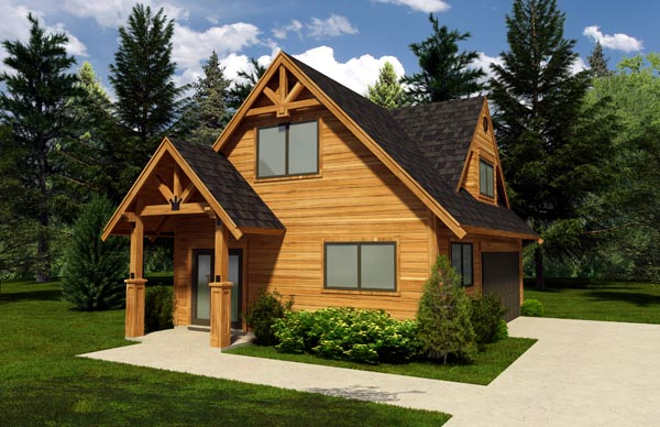 2 Car Garage Plan 76015 Elevation