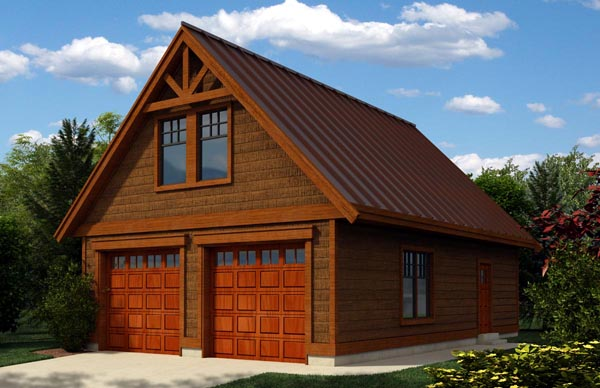 Cottage, Craftsman 2 Car Garage Apartment Plan 76019 Front Elevation