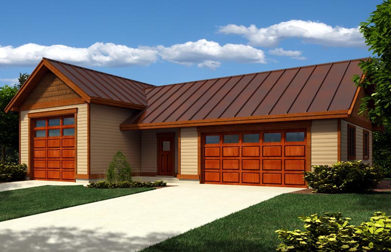 Garage Plan 76022 Elevation