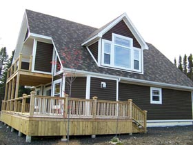 Cabin , Cottage House Plan 76032 with 3 Beds, 3 Baths Elevation