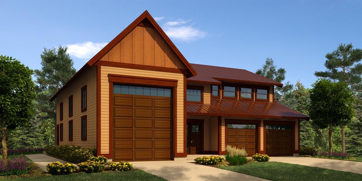 Garage plan 76034 at for Rv garage with loft