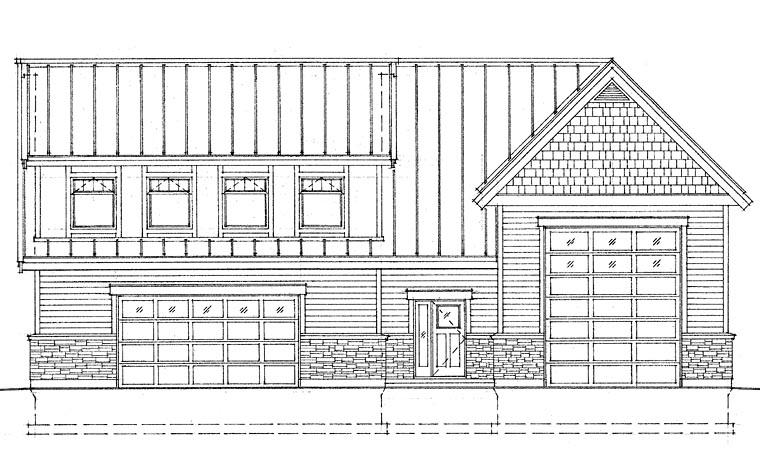 Craftsman Traditional Garage Plan 76039 Elevation