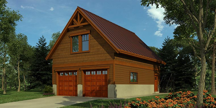 Traditional Garage Plan 76049 Elevation