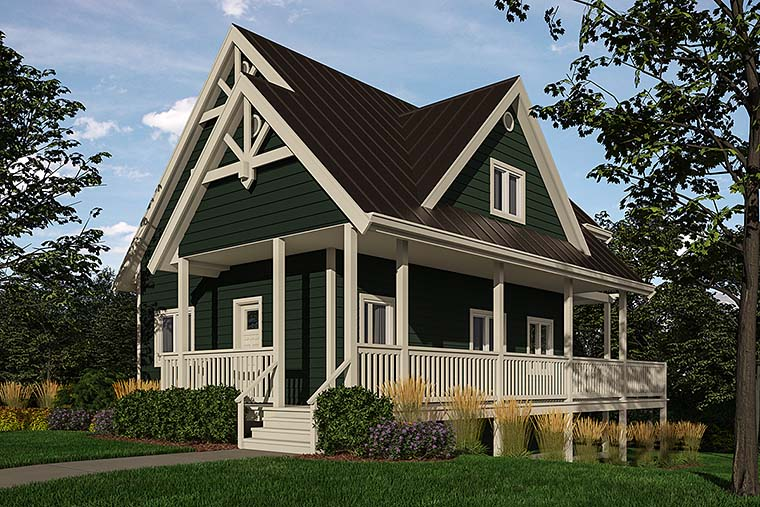 Cottage , Traditional , Elevation of Plan 76060