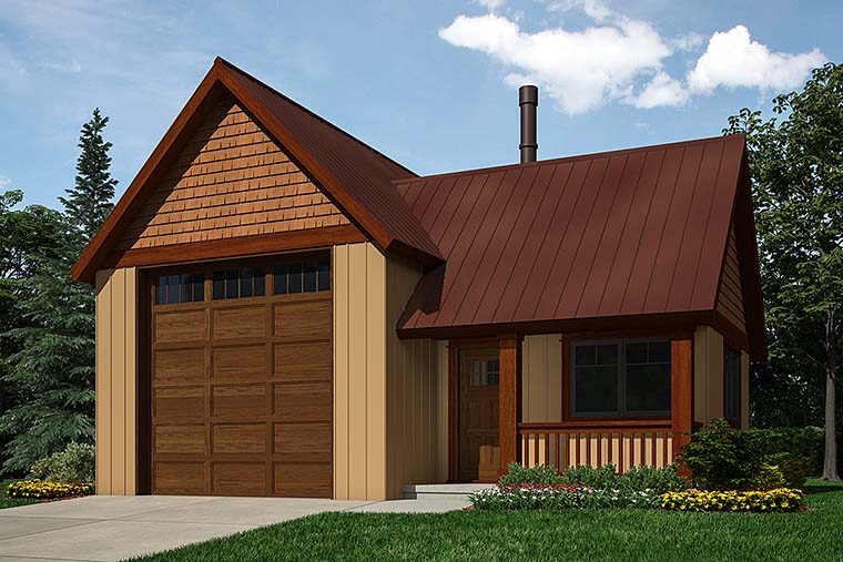 Traditional Garage Plan 76062 Elevation