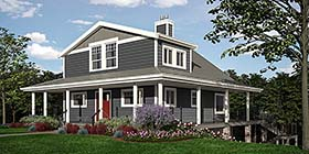 Cabin Coastal Cottage Country House Plan 76066 Elevation