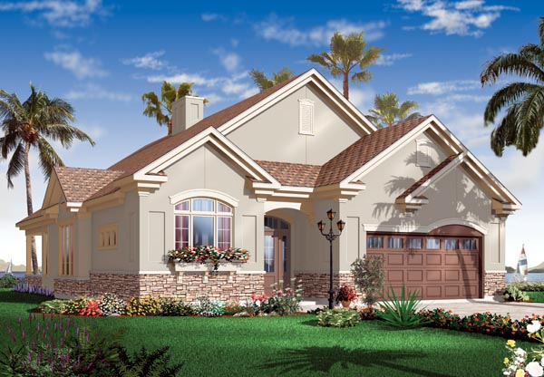 Florida Mediterranean House Plan 76100 Elevation