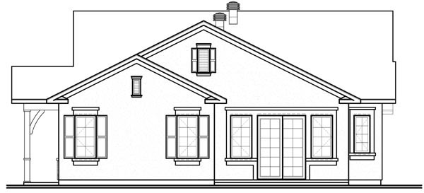 Florida Mediterranean House Plan 76101 Rear Elevation