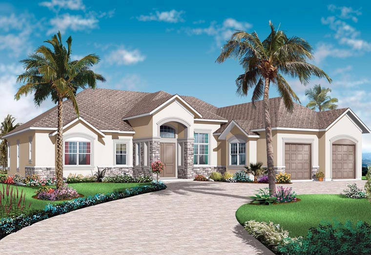 Florida Mediterranean House Plan 76102 Elevation