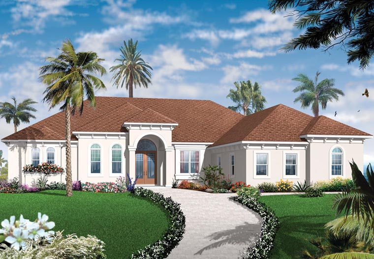 Florida Mediterranean House Plan 76104 Elevation