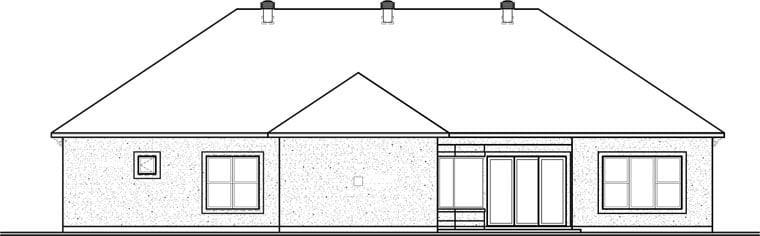 Florida Mediterranean House Plan 76104 Rear Elevation