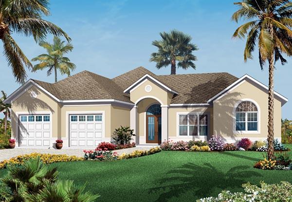 Florida Mediterranean House Plan 76107 Elevation