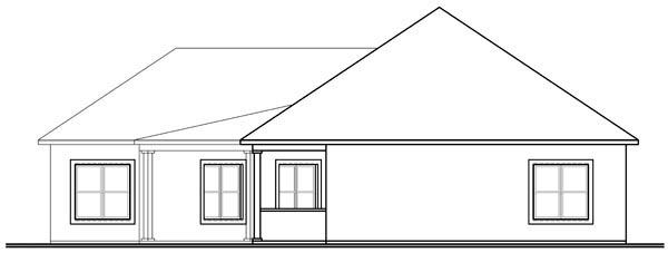 Florida Mediterranean House Plan 76107 Rear Elevation