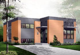 Contemporary House Plan 76108 Elevation