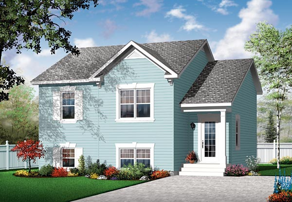 Traditional House Plan 76111 with 2 Beds, 1 Baths Front Elevation