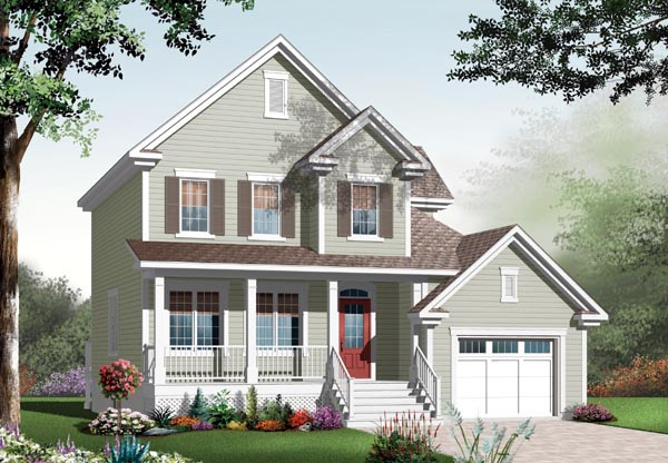 Country House Plan 76116 Elevation