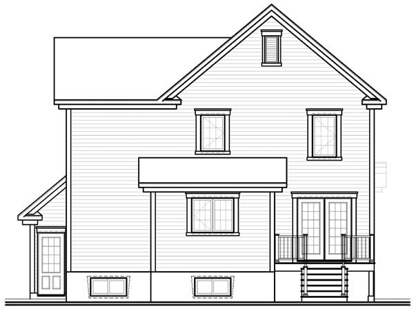 Country House Plan 76116 Rear Elevation
