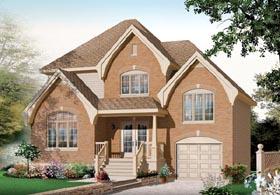 European House Plan 76118 with 3 Beds, 2 Baths, 1 Car Garage Elevation