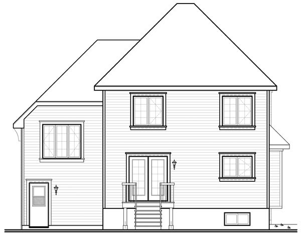 European House Plan 76118 Rear Elevation