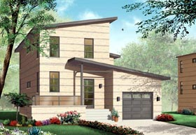 Contemporary House Plan 76119 Elevation