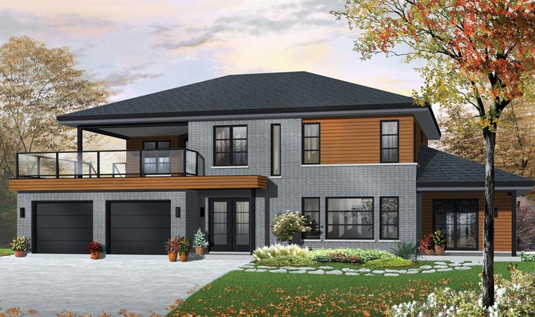 Contemporary House Plan 76121 Elevation