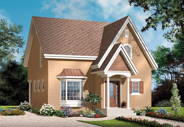 Colonial House Plan 76123 with 3 Beds, 2 Baths Elevation