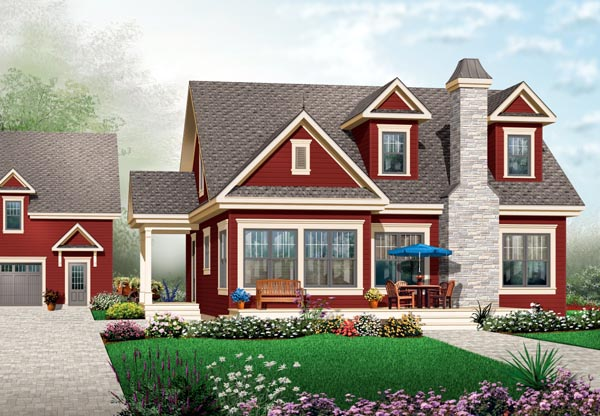 Cape Cod House Plan 76124 Elevation