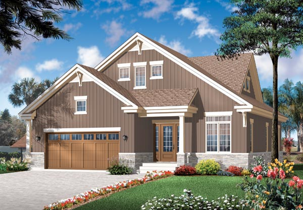 Craftsman Traditional House Plan 76125 Elevation
