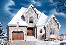 European House Plan 76126 Elevation