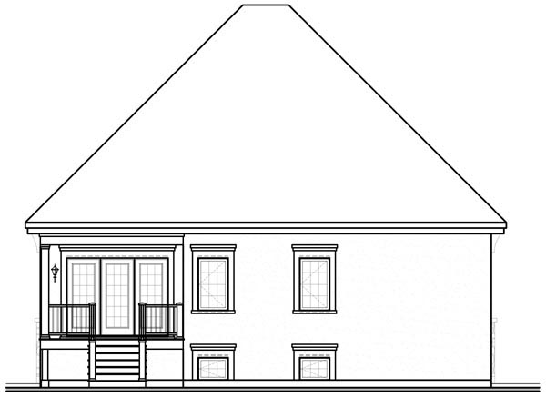 Traditional House Plan 76127 Rear Elevation