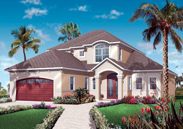 Florida House Plan 76128 Elevation