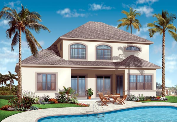 Florida House Plan 76128 Rear Elevation