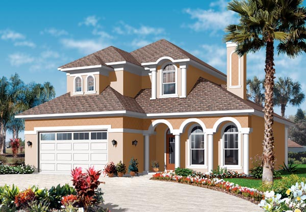 Florida Mediterranean House Plan 76130 Elevation