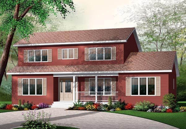 House Plan 76134 Elevation