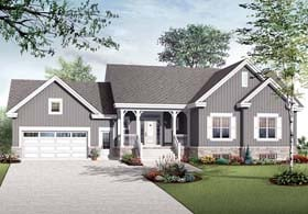 Country Craftsman House Plan 76135 Elevation