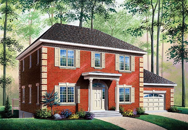 Colonial House Plan 76136 Elevation