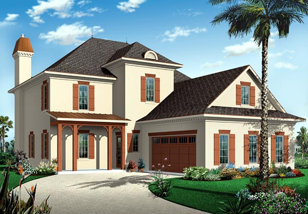 Florida Mediterranean House Plan 76137 Elevation