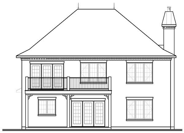 Florida Mediterranean House Plan 76137 Rear Elevation