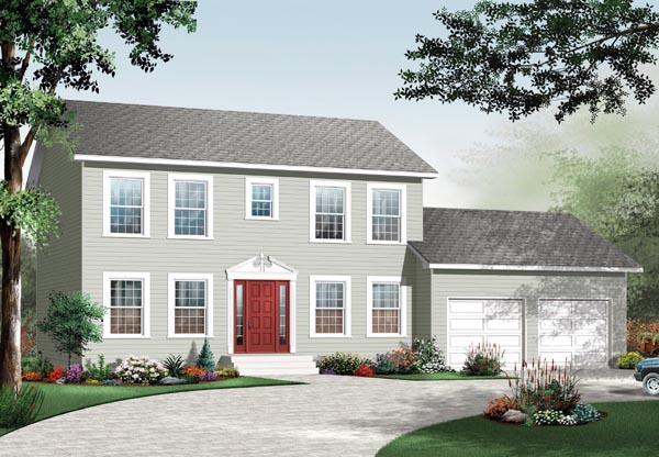 Colonial House Plan 76145 Elevation