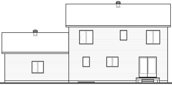 Colonial House Plan 76145 Rear Elevation