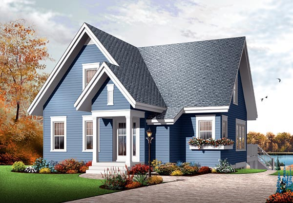 House Plan 76147 | Traditional Style Plan with 1579 Sq Ft, 3 Bed, 2 Bath Elevation