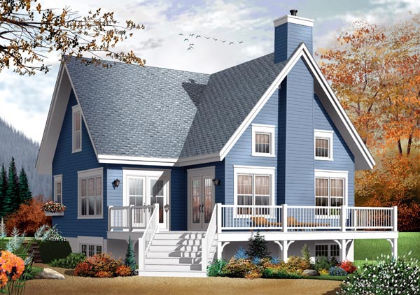 House Plan 76147 | Traditional Style Plan with 1579 Sq Ft, 3 Bed, 2 Bath Rear Elevation