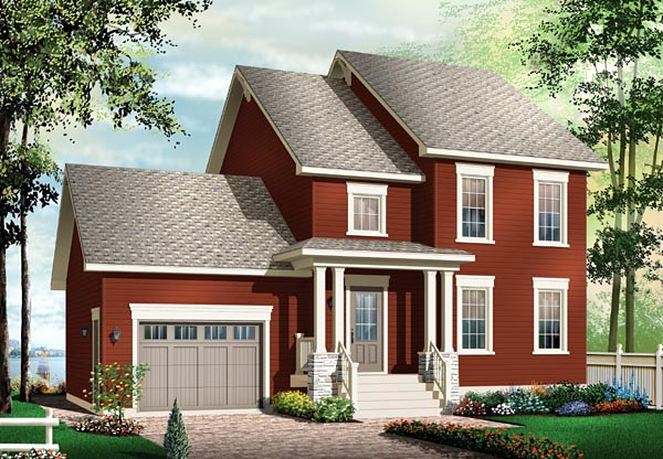 Colonial House Plan 76148 Elevation