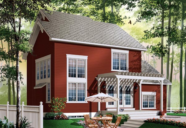 Colonial House Plan 76148 Rear Elevation