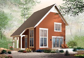 Traditional , Cabin House Plan 76149 with 2 Beds, 2 Baths Elevation