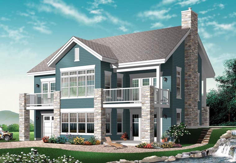 Craftsman, Traditional House Plan 76150 with 4 Beds, 2 Baths, 1 Car Garage Elevation