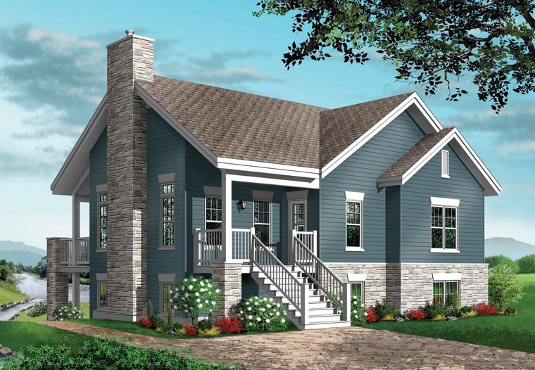 Craftsman Traditional House Plan 76150 Rear Elevation